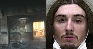 Queen of Peace Catholic Church in Ocala sustained a fire the morning of July 11, 2020. Suspect captured is 24-year-old James Shields of Dunnellon.