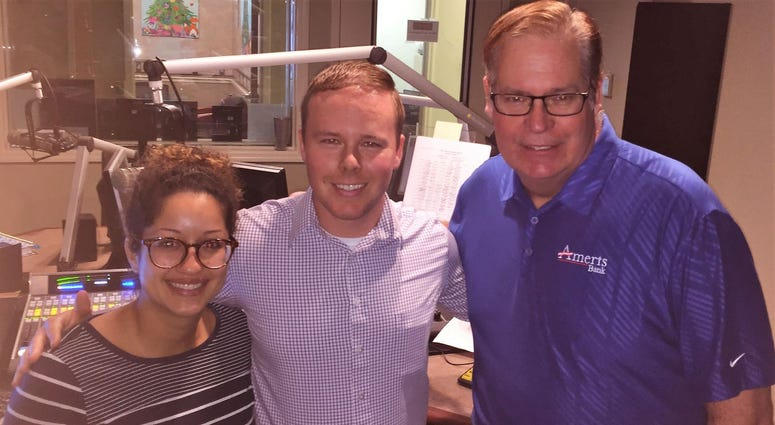 Theresa Heern and Zach Heern with Dreyer's DKI, and Mike Jones of Ameris Bank Mortgage