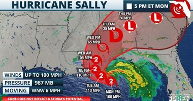 Hurricane Sally 5pm Monday 09142020