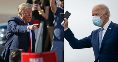 Donald Trump and Joe Biden on the campaign trail