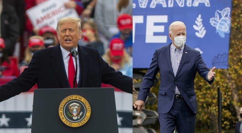 President Trump and former Vice President Joe Biden campaign in Pennsylvania.