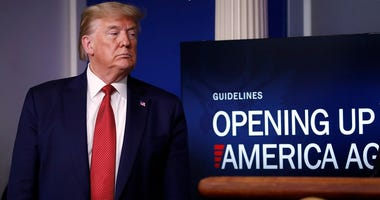 Pres. Trump promoting the reopening of America after coronavirus shutdowns