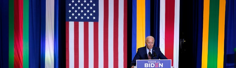 Biden courts Latino voters in first trip to Florida as nominee