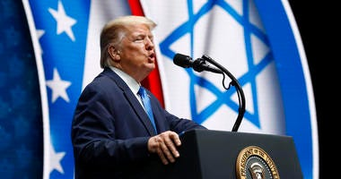 Trump says he's Israel's best pal in White House