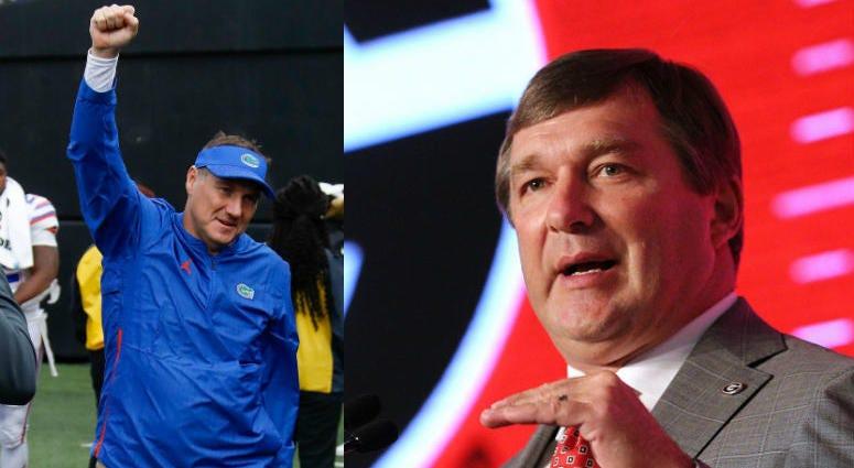 UF's Dan Mullen and UGA's Kirby Smart, SEC football