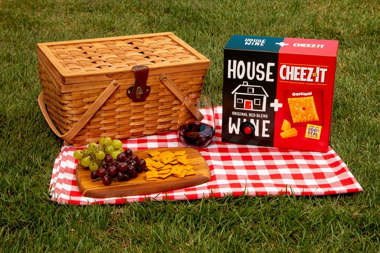 Cheez-It's Just Paired With House Wine for a Limited Edition Box Wine x Crackers Collab that we need immediately