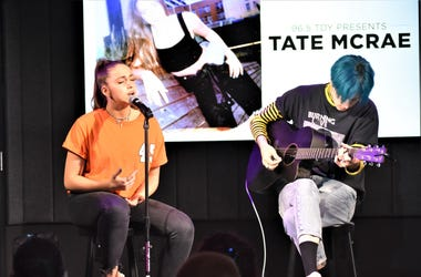 Tate McRae in the TDY Artist Lounge in Philadelphia