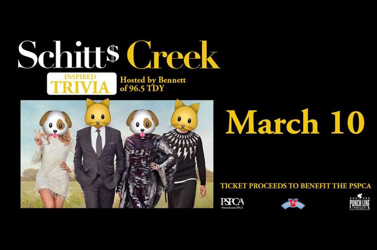Schitt's Creek Trivia benefiting the PSPCA