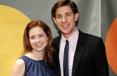 Jenna Fischer (L) and John Krasinski attend the NBC Upfronts at Radio City Music Hall on May 14, 2007