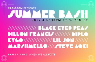 Summer Bash on 96.5 TDY with Marshmello, Dillon Francis, Diplo, Kygo, Lil Jon, Black Eyed Peas + Steve Aoki Tune in LIVE, this Saturday, July 4th, at 10 PM ET, Presented by RADIO.COM