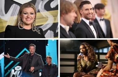 Kelly Clarkson, Adam Levine, Jennifer Hudson, Blake Shelton