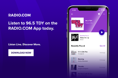 Listen To 96.5 TDY Anywhere! On The RADIO.COM app, Alexa, Google Home, Smartspeakers, in philadelphia and philly, delaware, new jersey and beyond!