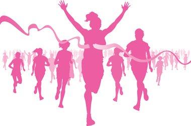 breast cancer walk run stock image getty