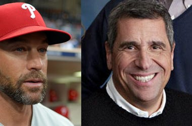 Philadelphia Phillies manager Gabe Kapler and WIP host Angelo Cataldi