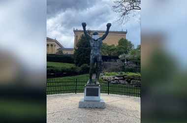 Rocky Statue In Philadelphia Has Mask Put On
