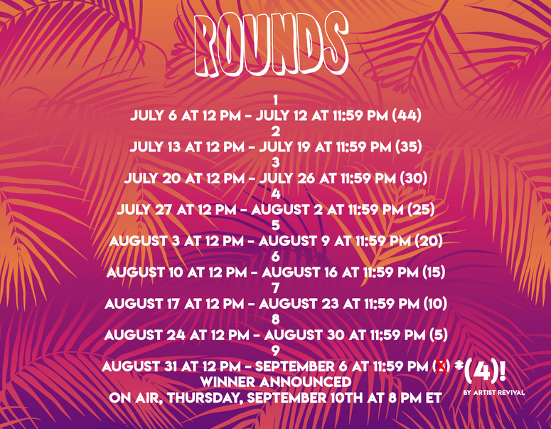 2020 Artist of the Summer - Rounds