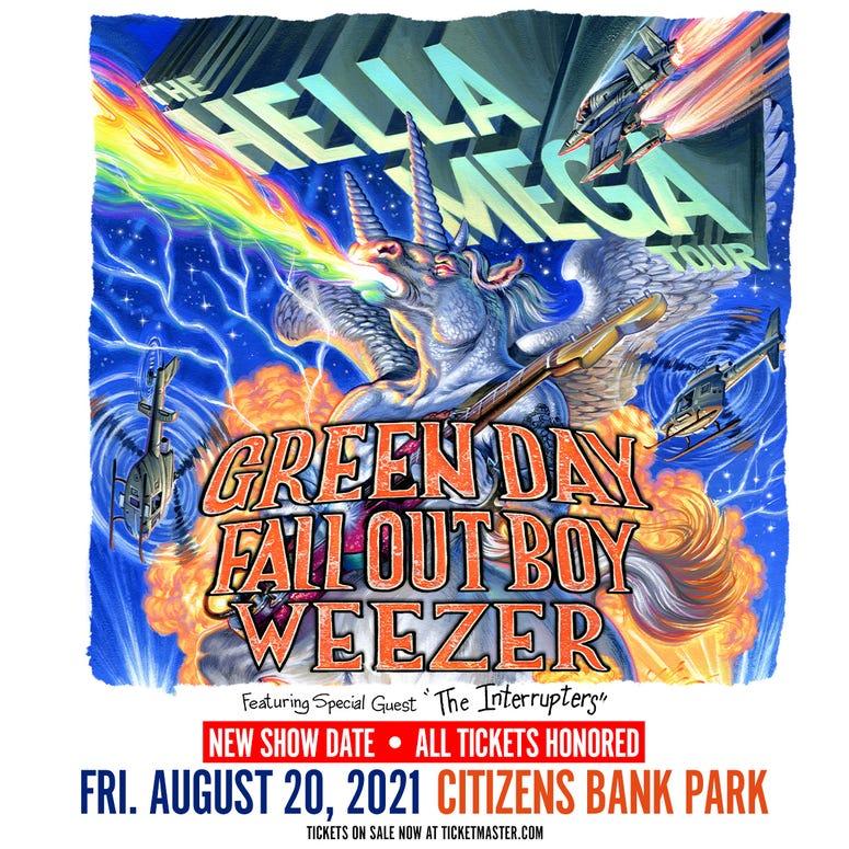 Green Day, Weezer, Fall Out Boy 'Hella Mega' Tour