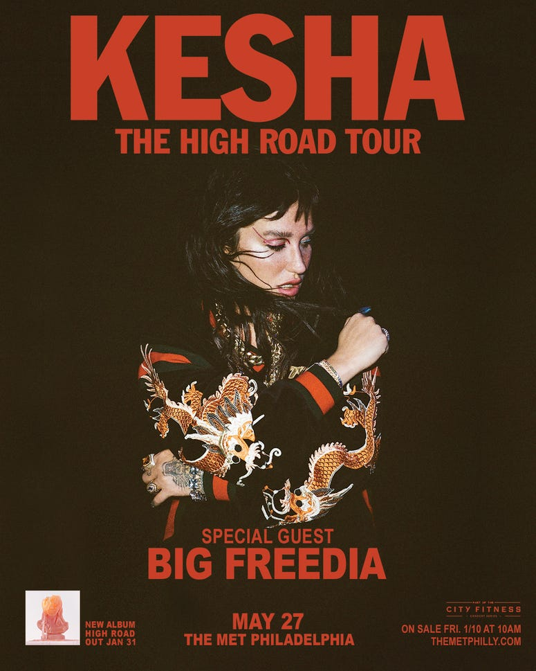 Kesha, The High Road Tour 2020, Big Freedia Philadelphia, The Met, Philly