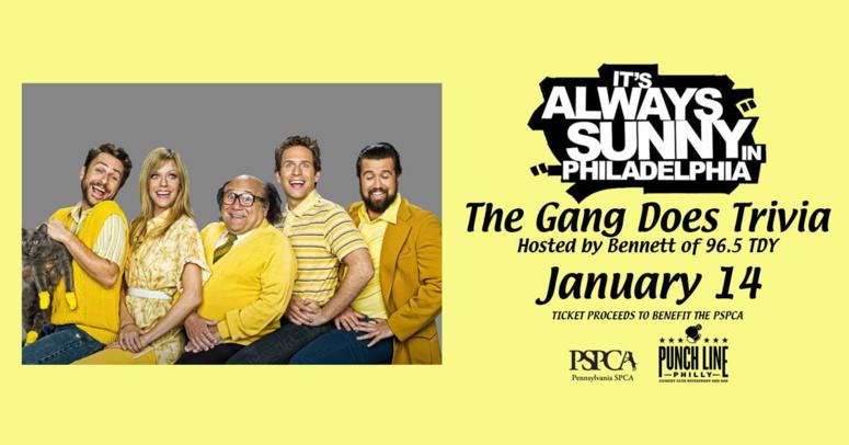 Always Sunny in Philadelphia Trivia benefiting the PSPCA