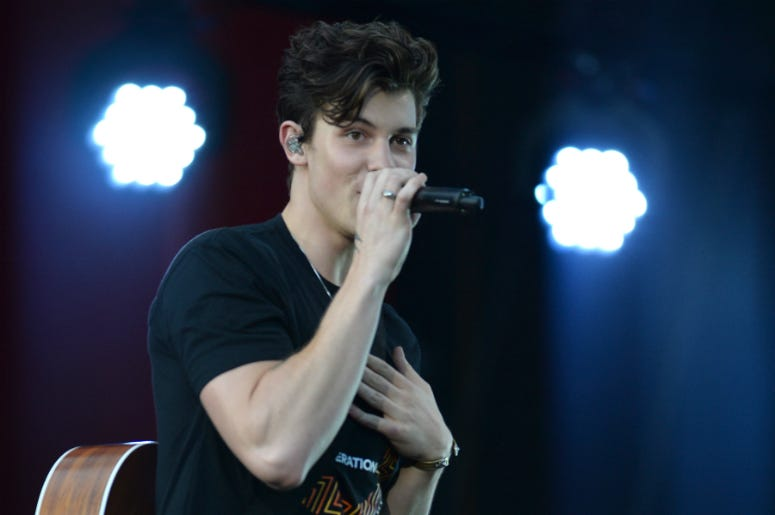 Singer Shawn Mendes performs during the 2018 Global Citizen Festival on the Great Lawn in Central Park, NY, on September 29, 2018.