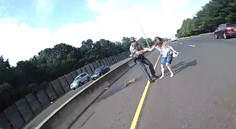 Woman Removed from I-95