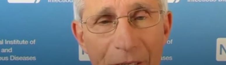 Dr. Anthony Fauci joined the governor's latest COVID-19 briefing