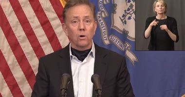 Gov. Ned Lamont (D/CT) at his daily COVID-19 news briefing, 4/15/20