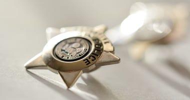 Police Officer Badge, Gold