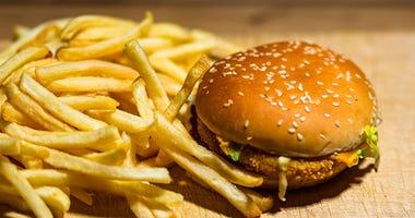 Hamburger, Fries