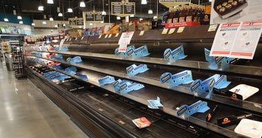 Empty Shelves - Food Shortage