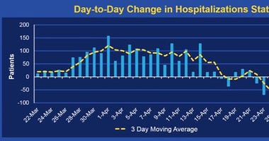 """""""Day to Day Change in Hospitalizations Statewide"""""""