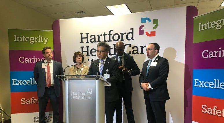 Dr. Ajay Kumar speaks at Hartford HealthCare Care Logistics Center