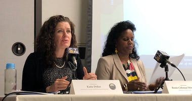 Department of Energy and Environmental Protection Commissioner Katie Dykes and  Department of Public Health Commissioner Renee Coleman-Mitchell.