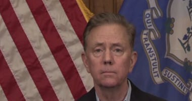 Governor Ned Lamont at his coronavirus press briefing April 10