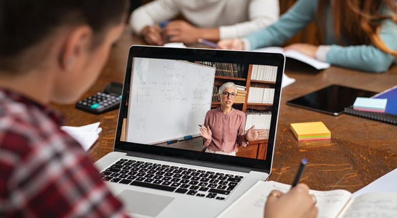 Laptop Computer Distance Learning