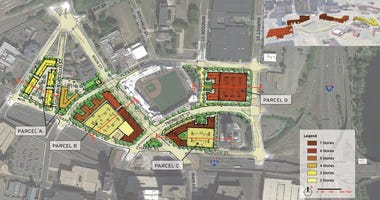 "Development of land near Dunkin Donuts Park will start this spring in ""Parcel C."""