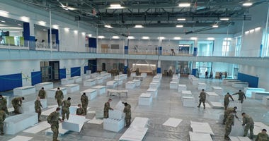 National Guard Sets Up COVID-19 Recovery Beds at CCSU