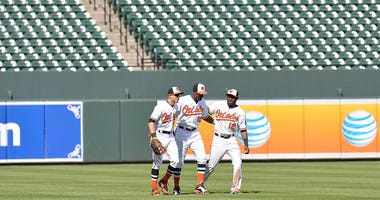 Orioles game with no fans in attendance - 2015