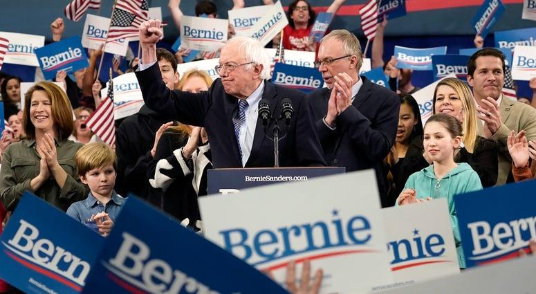 Bernie Sanders Celebrates NH Democratic Primary Win, 2/11/20
