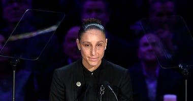 Former UConn great Diana Taurasi eulogizes Kobe and Gianna Bryant, 2/24/20