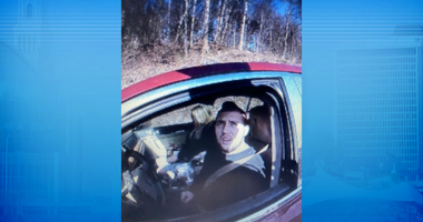 Troy Burgess, 25, in a red vehicle