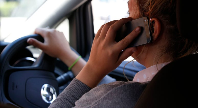 Driver Using Cell Phone