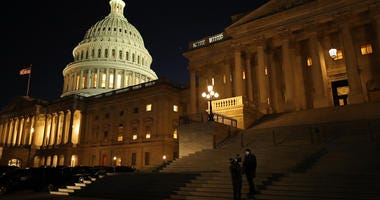 U.S. Senate works late into the night on Impeachment Trial, 1/21/20