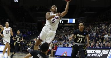 Collier's Double-Double Leads No.2 UConn to Rout of Towson