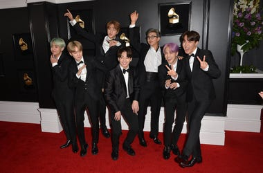 BTS arrives at the GRAMMYs