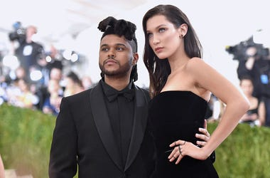The Weeknd (L) and Bella Hadid attend the 'Manus x Machina: Fashion In An Age Of Technology' Costume Institute Gala
