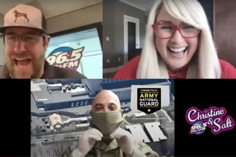 Christine and Salt try to join the CT Army National Guard