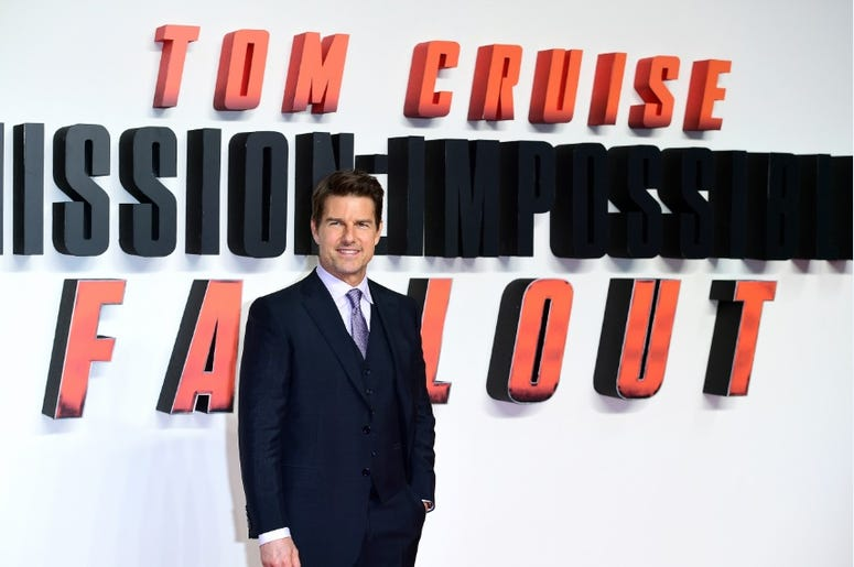 Tom Cruise at Mission Impossible