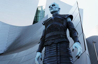 A white walker attends the premiere of HBO's 'Game Of Thrones' season 7 at Walt Disney Concert Hall on July 12, 2017 in Los Angeles, California.