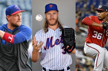 Hunter Pence, Noah Syndergaard, Tony Sipp